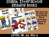 Tools & Machines English Interactive Reading Books Can Be Used With Frog Street