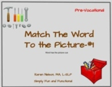 Tools: Match the Word to the Picture #1