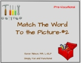 Tools: Match the Word to the Picture #2