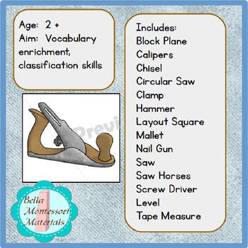 Tools -  Montessori Vocabulary Cards