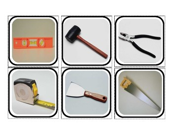 """Tools"" Reality Picture Squares for Autism"