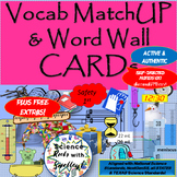 Tools, Safety & Science Measurement Vocab MatchUP & Word Wall CARDs + extras!