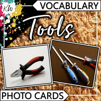 Tools Vocabulary Photo Flashcards