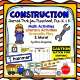 Preschool Tools and Machines Construction Theme Activity Pack