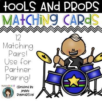 Tools and Props Matching Cards! Use for Random Partner Pairing!