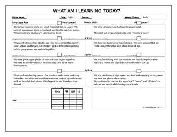Tools daily lesson plans and vocabulary