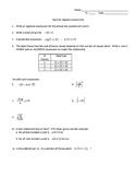 Tools for Algebra Assessment