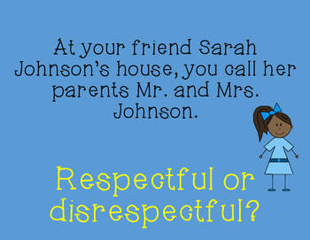 Tools for Life: Respect (PowerPoint and Printables)