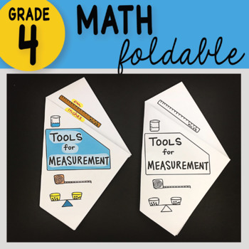 Math Doodle - Tools for Measurement Math Interactive ~ INB Foldable Notes ~