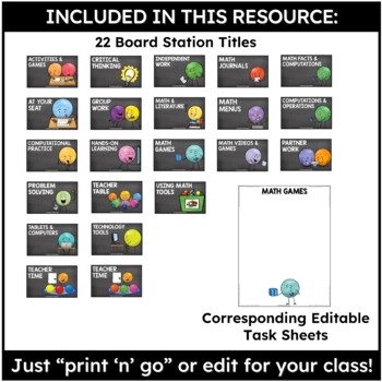 Tools for Organizing Math Stations Pack