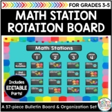 Tools for Organizing Math Stations and Math Centers Pack with Editable Parts