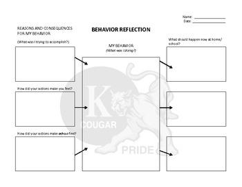 Tools for Responding to Behavior: Behavior Reflections