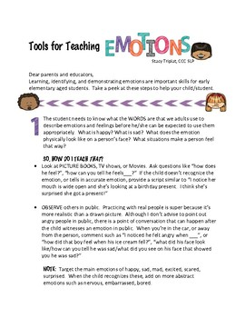 Tools for Teaching Emotions