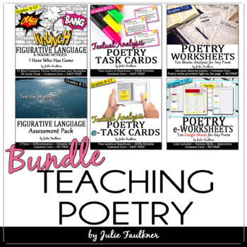 Tools for Teaching Poetry BUNDLE: Terms, Types, Analysis,