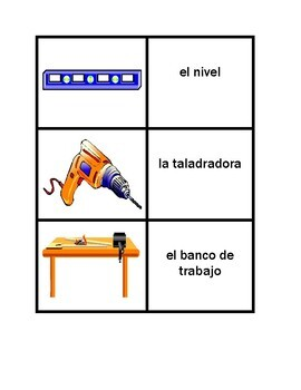 Tools in Spanish Vocabulary Concentration games