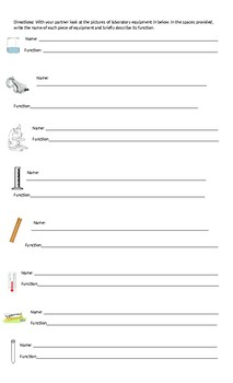Tools in the Lab Worksheet/Lab
