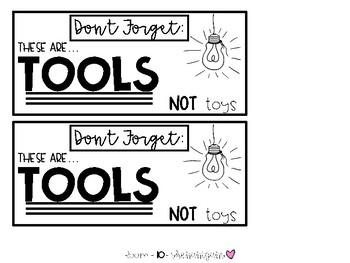 Tools not Toys