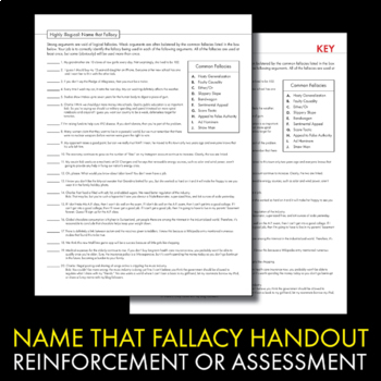 fallacious statements essay Writing essays from organizing your argument to writing clear, appealing sentences to proofreading, develop your writing technique for the five paragraph essay and beyond.