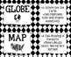 Tools of Geography Flash Cards - Black and White Papers