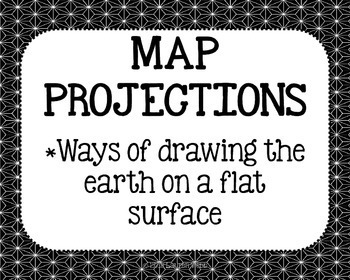Tools of Geography Posters - Black and White Papers