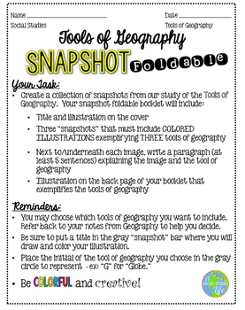 Tools of Geography Snapshot Foldable
