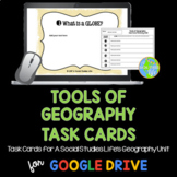 Tools of Geography Task Cards and Recording Sheet