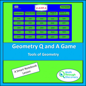 Geometry:  Geometry Smartboard Q and A Game - Tools of Geometry