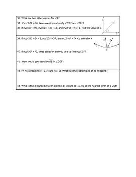 Tools of Geometry Study Guide