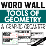 Tools of Geometry Vocabulary Word Wall and Graphic Organizer