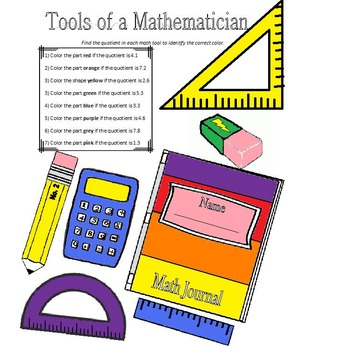 Tools of a Mathematician - Dividing Decimals and Whole Numbers (6.NS.B.3)