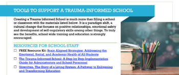 Tools to Support a Trauma-Informed School