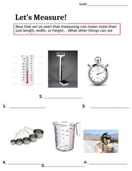 Tools we use to measure!