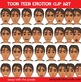 Toon Teen Boy 2 Emotions Clip Art Over 25 Commercial Use OK