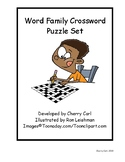 Toons Word Family Crossword Puzzle Set