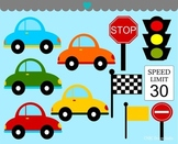 Cars traffic signs clipart commercial use