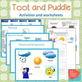 Toot and Puddle  Smart board Activities, PP and worksheets