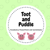 Toot and Puddle  PowerPoint, weather, clothing and transportation worksheets