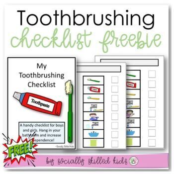 FREE  Toothbrushing Routine {Picture Board and Checklist}