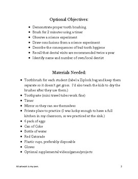 Tooth Care-a Life Skills Packet
