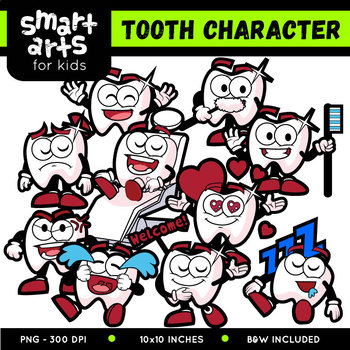 Tooth Character Clip Art