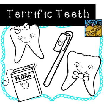 Tooth Clip Art Dental Health Clip Art by Kid-E-Clips Commercial and Personal Use