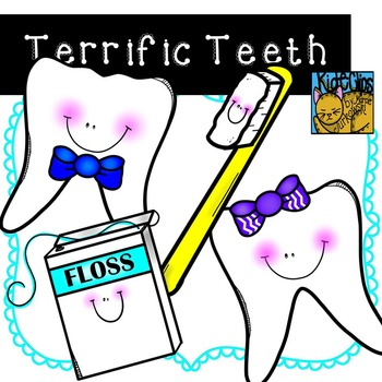 Tooth Clip Art Dental Health Clip Art by Kid-E-Clips Comme