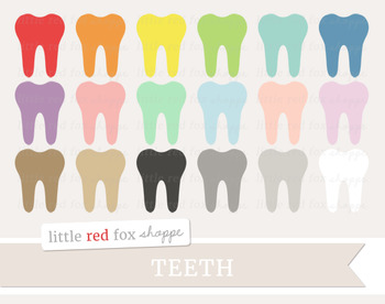 Tooth Clipart; Dentist, Teeth