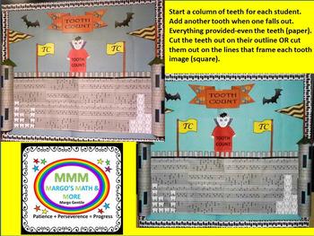 #backtoschool Tooth Count Bulletin Board