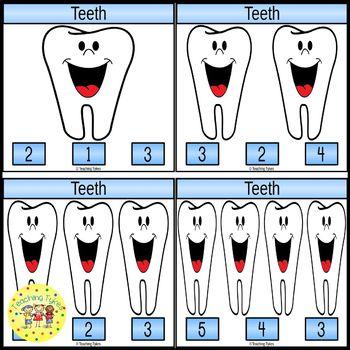 Teeth Clip Task Cards