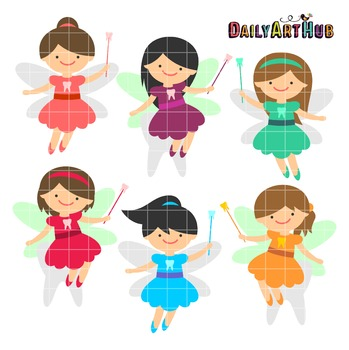 Tooth Fairies Clip Art - Great for Art Class Projects!