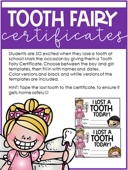 Tooth Fairy Activities Pack By Anita Bremer Teachers Pay Teachers