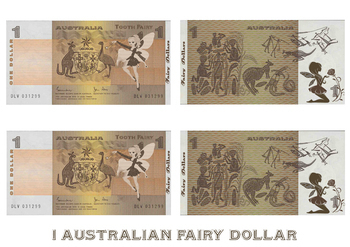 Tooth Fairy Australian Money - 1 Dollar