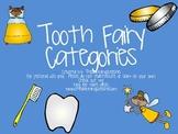 Tooth Fairy Categories Activities