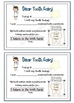 Tooth Fairy Certificate and Note
